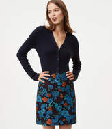 LOFT Forest Bloom Shift Skirt