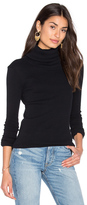 Enza Costa Cashmere Rib Long Sleeve Turtleneck Top