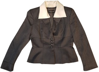 Jacques Fath Grey Wool Jacket for Women Vintage