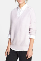 Vince Wool & Cashmere Blend Double V-Neck Sweater