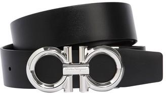 Salvatore Ferragamo 35mm Diamond Reversible Leather Belt