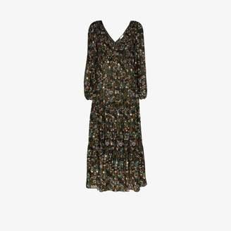 Rixo Brooke floral print cotton maxi dress