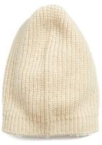 Halogen Women's Ribbed Beanie - Beige