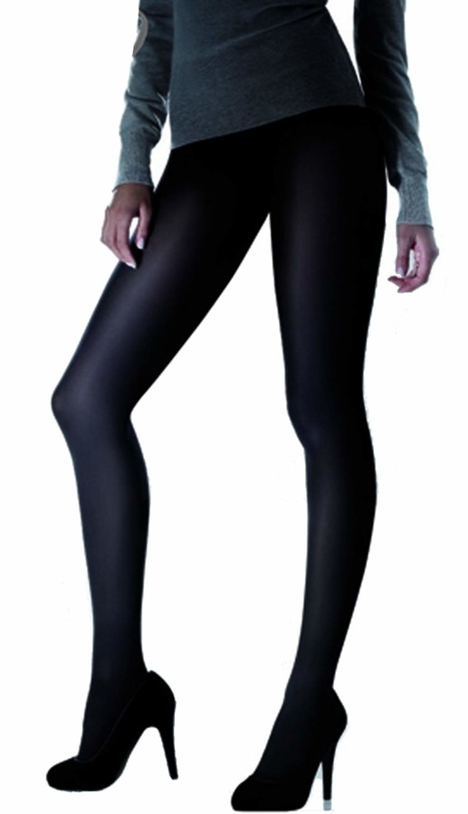 Marilyn opaque tights made of microfibre without panty 180 denier size 42 (XL) Color Black (nero)