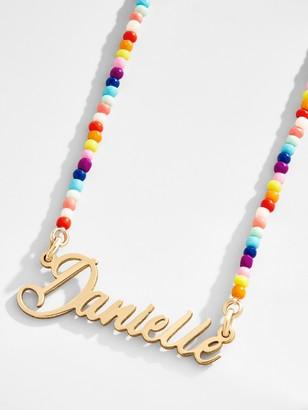 BaubleBar Custom Pendant Rainbow Chain