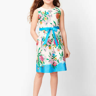 Talbots Girls Blossoms Fit & Flare Dress
