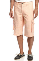 INC International Concepts Shorts, Augustus Linen-Blend Cargo Shorts