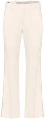 Gucci Embroidered stretch-cady pants