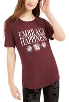 Hybrid Love Tribe Juniors' Embrace Happiness Graphic T-Shirt
