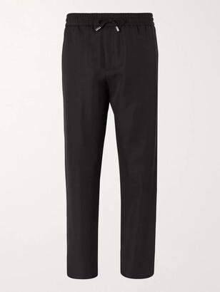 Mr P. Wide-Leg Virgin Wool-Twill Drawstring Trousers