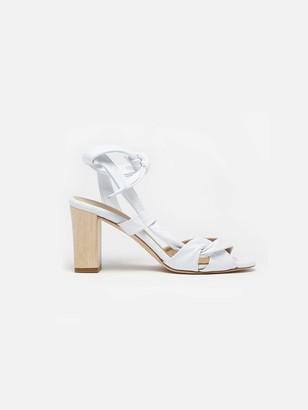 Sclarandis Ravello Ankle Tie Sandal in White Size 38.5 Leather