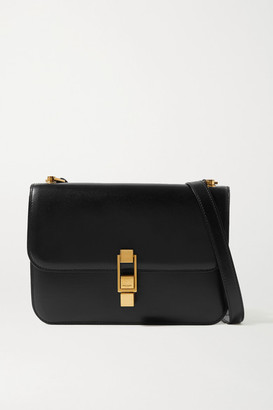 Saint Laurent Carre Leather Shoulder Bag - Black