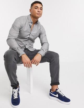 HUGO BOSS Business Rikard check long sleeve shirt