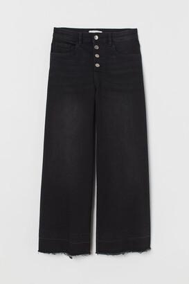 H&M Wide Leg Cropped Jeans