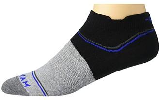 Wigwam Surpass Ultralight Low (Black/Grey) Crew Cut Socks Shoes