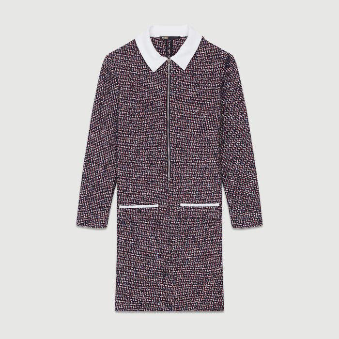 Maje Tweed shirt dress
