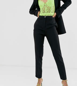 Asos Tall DESIGN Tall pop slim suit trousers-Black