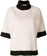 MM6 MAISON MARGIELA pleat trim top - women - Cotton/Polyester/Spandex/Elastane - XS