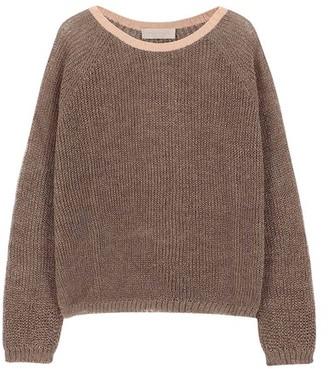 Momoni Rio sweater in lurex rib stitch