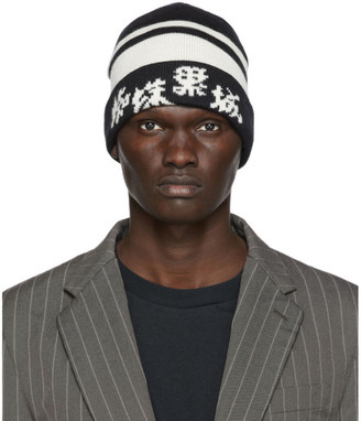 Undercover Black and Off-White Wool Beanie