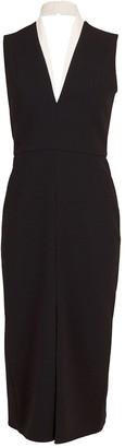 Victoria Beckham Tuxedo Fitted Dress