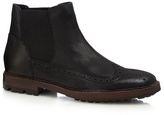 Red Herring Black Perforated Chelsea Boots