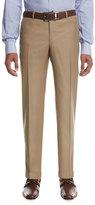 Isaia Aquaspider Wool Dress Pants, Tan
