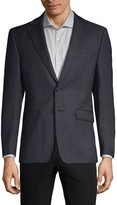 Calvin Klein Plaid Wool-Blend Blazer