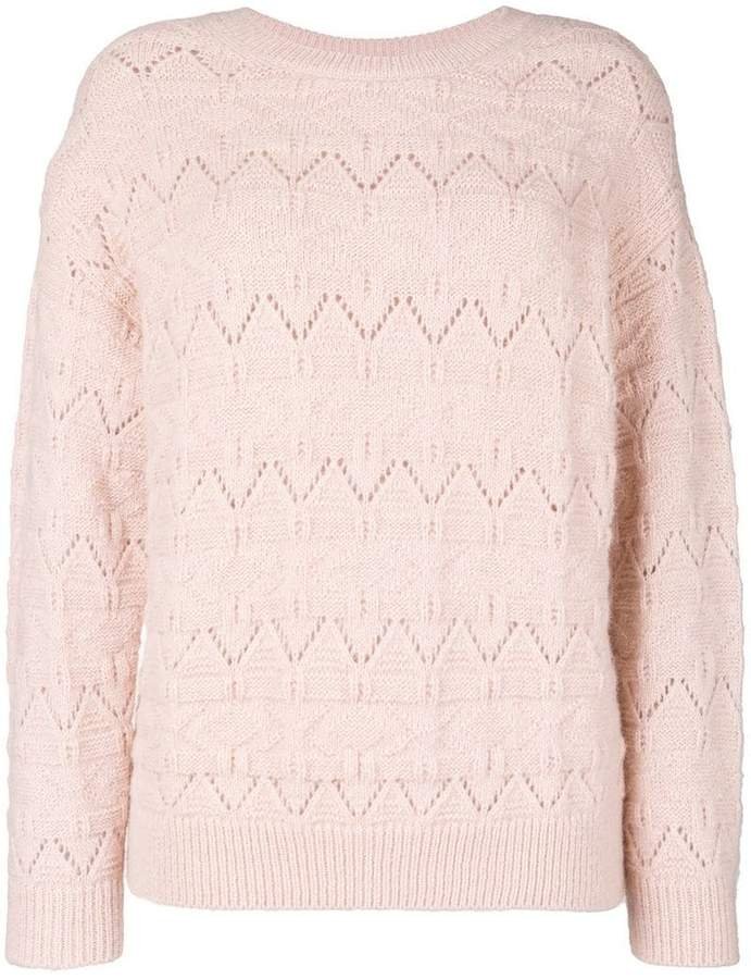 Closed open knit sweater