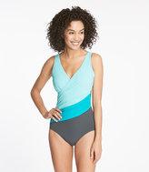 L.L. Bean Slimming Swimwear, Color Block Tanksuit