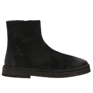 Marsèll Heeled Booties Parapa Suede Ankle Boots With Rubber Sole And Zip