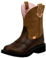 Justin Boots Justin Western Boot Women Gypsy Fashion Round Toe Café Brown L9625