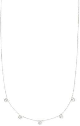 Kendra Scott Shannon Collar Necklace in White Diamonds