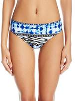 Kenneth Cole Reaction Women's Indigo Go Girl Aztec Hipster Bikini Bottom with Back Straps