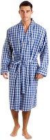 Haigman Men's Cotton Dressing Gown Bath Robe Nightwear (M) Check