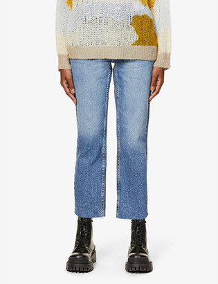 Topshop Straight-leg mid-rise jeans