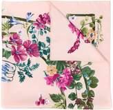 Salvatore Ferragamo Gancini floral print scarf