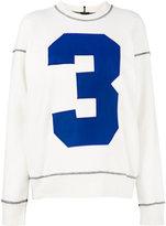 Joseph number print sweatshirt - women - Cotton/Spandex/Elastane - M