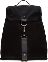 Maison Margiela Black Suede and Canvas Backpack
