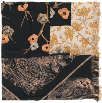Pierre Louis Mascia Mixed-Print Silk Scarf