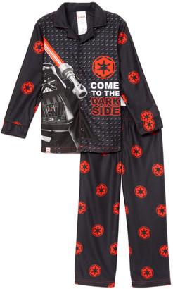 Star Wars Sg Footwear SG Footwear Boys' Sleep Bottoms - LEGO 'Dark Side' Button-Up Pajama Set - Boys