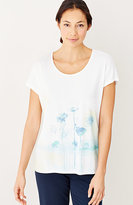 J. Jill Pure Jill Scoop-Neck Print Tee