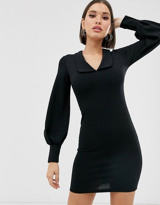 TFNC long sleeve collar skater dress