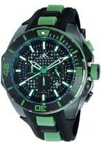 Adee Kaye Men's Grid 54.94mm Silicone Band Steel Case Quartz Watch Ak6367-Gn