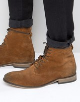 Mens Tan Lace Suede Boots - ShopStyle