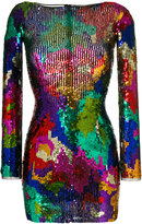 Amen sequined fitted dress