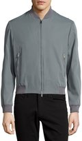 CNC Costume National Zip-Front Bomber Jacket, Gray
