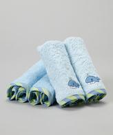 SpaSilk Blue Whale Terry Washcloth Set