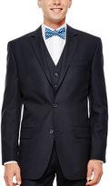 Izod Navy Plaid Suit Jacket - Classic Fit