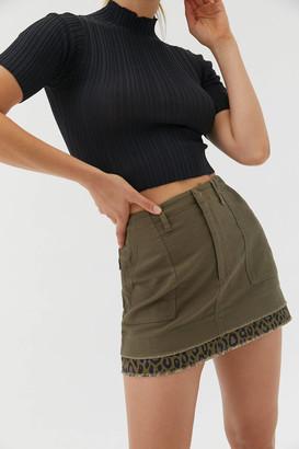 Urban Outfitters Karter Spliced Mini Skirt